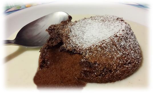 tortino al cioccolato (soufflè)