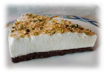 Fetta di torta allo yogurt e nutella