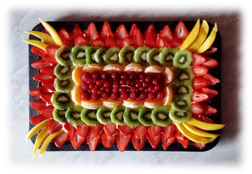 Crostata rettangolare alla frutta by Charles