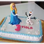 Torta Frozen con Elsa e Olaf