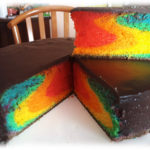 La Rainbow Cake (all in one pan)