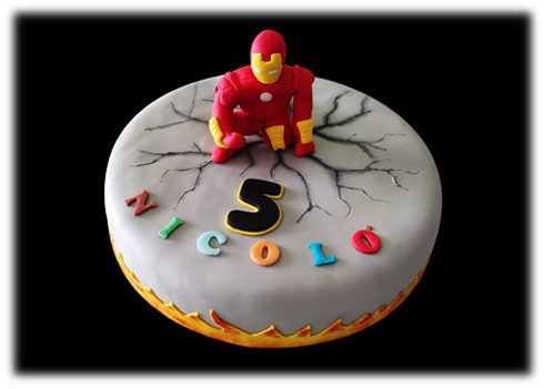 Iron Man cake (by Charles)