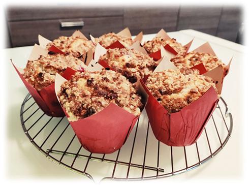 Muffins ai Lamponi e Cioccolato Bianco
