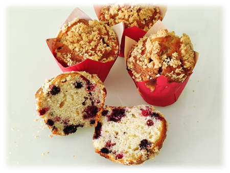 Muffins coi frutti di bosco